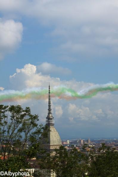 Freccie Tricolori e la Mole Antonelliana